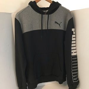 Men's Puma hooded sweater.